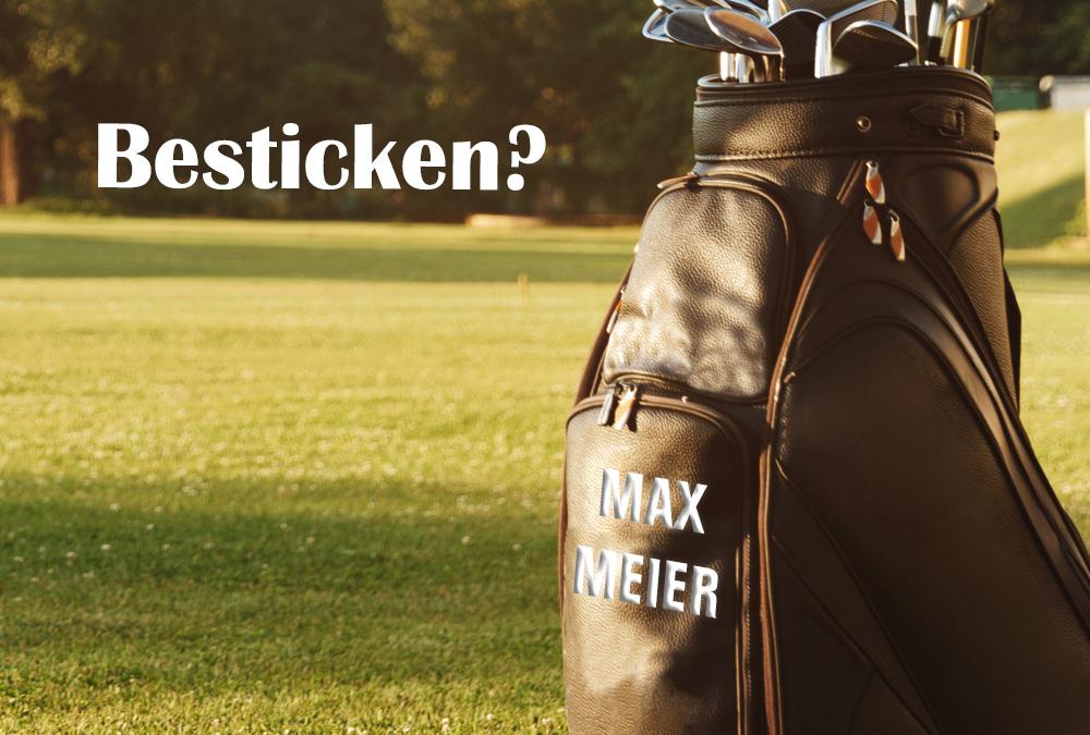 Golfbags nachträglich besticken lassen