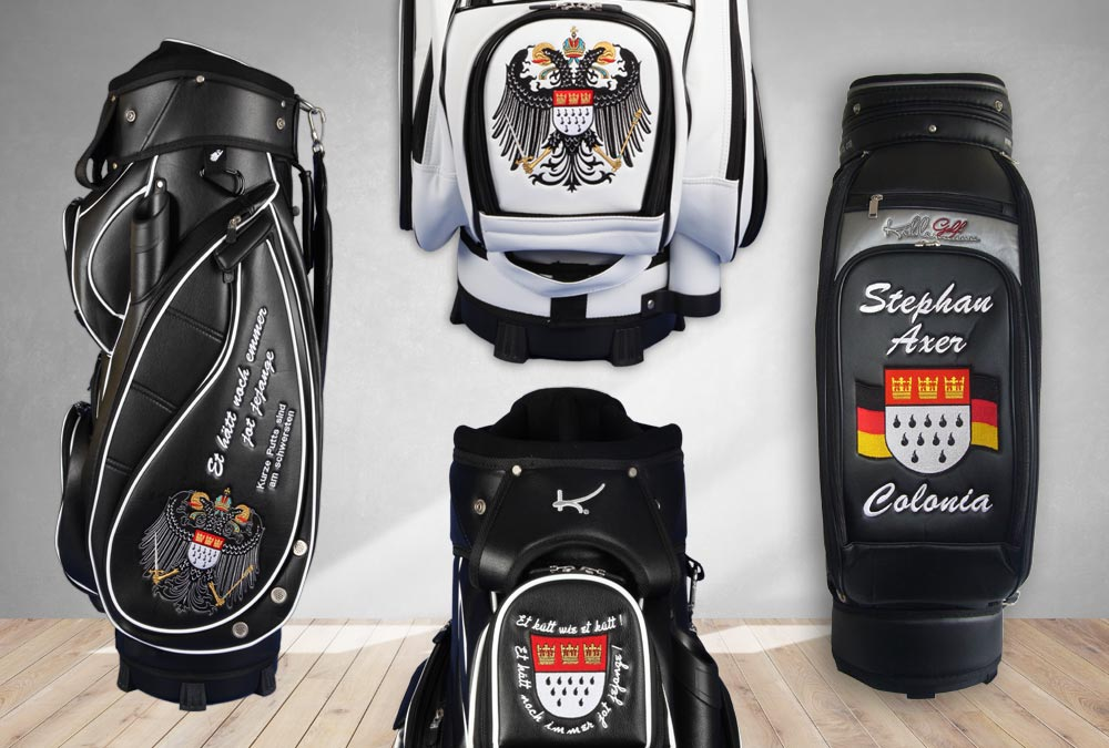 Golfbags mit Kölnwappen