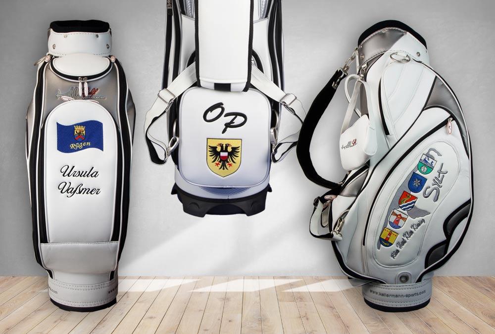 Golfbags mit norddeutschen Wappen
