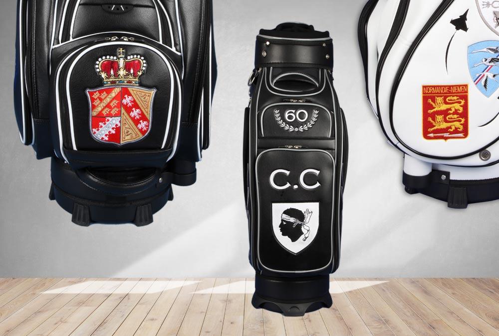 Golfbags mit französischen Reginalwappen