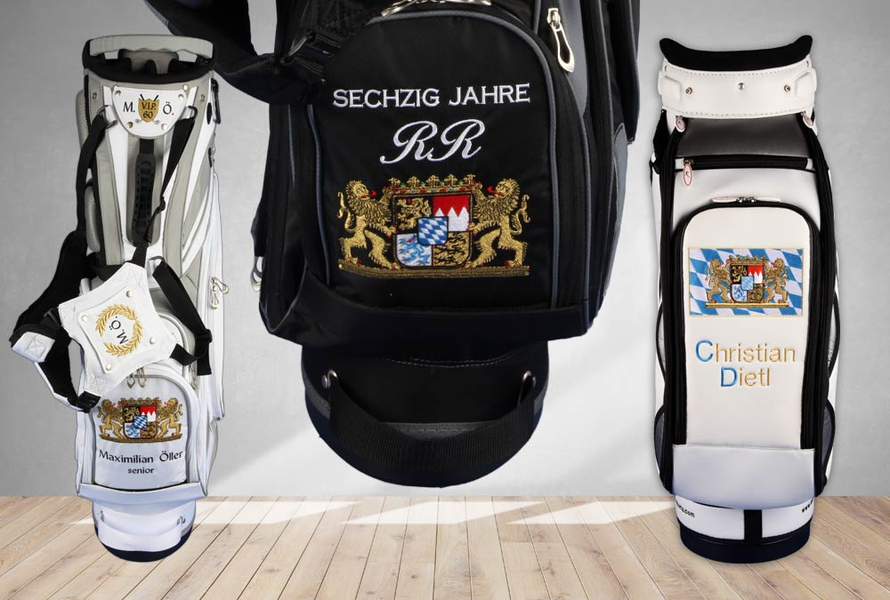 Golfbags mit Bayernflagge