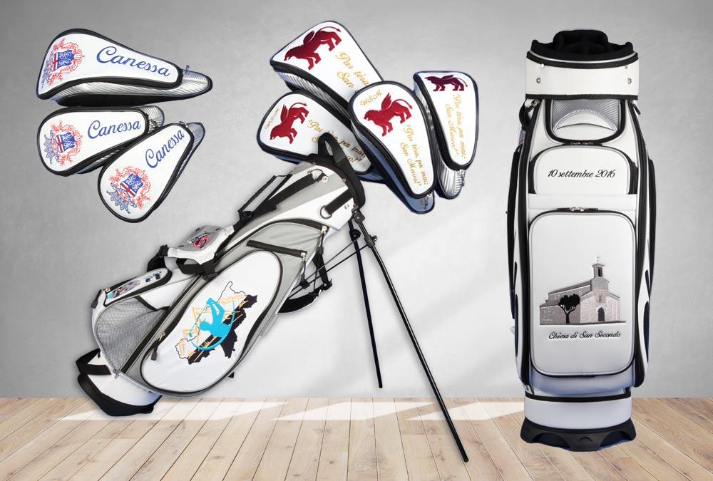 Golfbags mit italienischen Regionalwappen