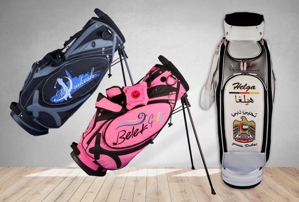Golfbags im Urlaubsdesign