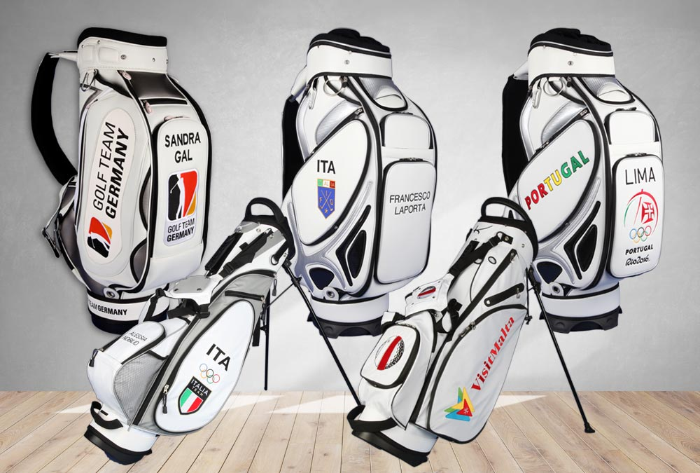 Golfbags von Nationalmannschaften
