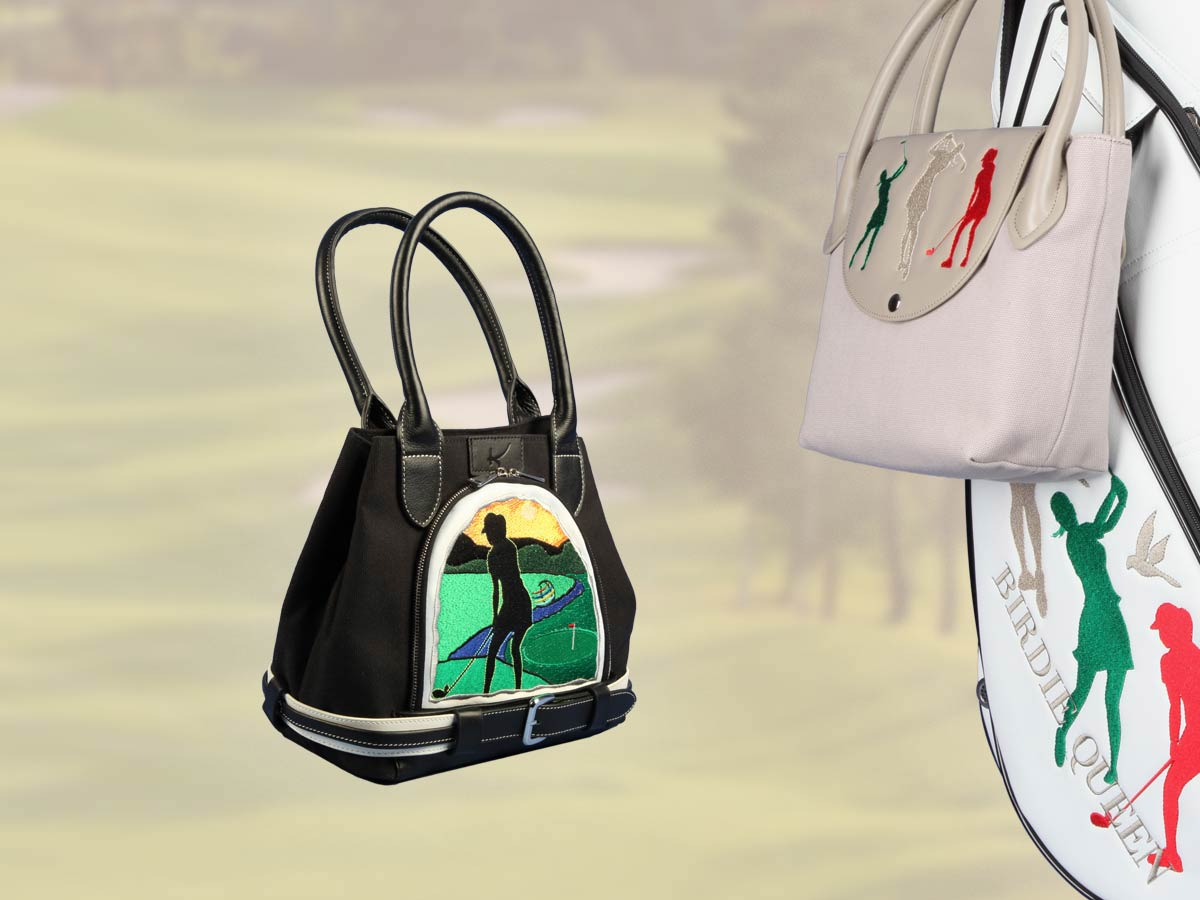 Custom-stitched Handbags for ladies golf bags