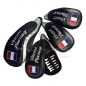 Preview: Head cover set 4 pieces custom stitched: National flag/name