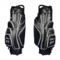 Preview: Golf bag / cart bag in black. Personalized on the ball pocket. Design your cart bag online. Classic Bauhaus style.