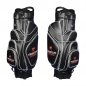 Preview: Golf bag / cart bag in black. Personalized on 3 areas. Design your cart bag online. Classic Bauhaus style. Highly exclusive cart bag. German manufacturer