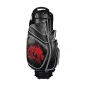 Preview: Golf bag / cart bag in black. Personalized on 4 areas. Design your cart bag online. Custom golf bag in classic Bauhaus style