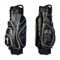 Preview: Golf bag / cart bag in black. Personalized on 4 areas. Design your cart bag online. Classic Bauhaus style. HANDMADE