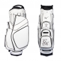 Preview: Golf bag / cart bag in white. Personalized on the front. Design your cart bag online. Classic Bauhaus style.