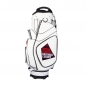 Preview: Golf bag / cart bag in white. Personalized on 4 areas. Design your cart bag online. Classic Bauhaus style