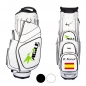 Mobile Preview: Golfbag / Cartbag im Bauhausstil. Modell GENEVE. Individuell bestickt. Firmenlogo. Corporate Design auf 4 Bereichen