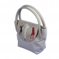 Preview: Bolsa de mano ONLY YOU personalizada: DISEÑO DE GOLF. Cuero/lona en beige