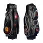 Preview: Golf Bag / cart bag. Fully customized with embroideries. Production by hand.