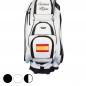 Preview: Golf Bag / Cart Bag. Mit Name und Nationalflagge individuell bestickt.