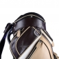 Preview: Luxury custom golf bag. Made of genuine leather. 4 custom stitched areas