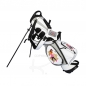 Preview: Golfbag / pencil stand MARRAKESH in white. Design 4 custom areas