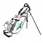 Preview: Sac de golf pencil MARRAKESH en blanc. Concevoir 4 zones brodées