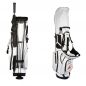 Preview: Custom stitched golf bag / stand bag in white. Waterproof. Ball pocket and strap system personalized