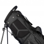 Mobile Preview: Custom stitched golf bag / stand bag in black. 1 custom area. Waterproof.