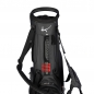 Mobile Preview: Custom stitched golf bag / stand bag in black or white. Custom-stitched with a  company logo on front, side and strap system. Waterproof.