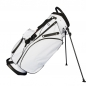 Preview: Custom stitched golf bag / stand bag in white. 1 custom area. Waterproof.