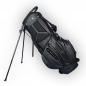 Preview: Custom stitched golf bag / stand bag in black or white. Ball pocket custom-stitched with a name or initials. Waterproof.