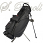 Preview: Custom stitched golf bag / stand bag in black. 1 custom area. Waterproof.