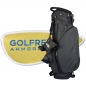 Preview: Custom stitched golf bag / stand bag in black. Waterproof. Ball pocket and strap system personalized