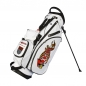 Preview: Custom stitched golf bag / stand bag in white. Waterproof. Ball pocket and large side pocket personalized