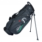 Preview: Custom stitched golf bag / stand bag in black. Waterproof. Ball pocket and large side pocket personalized