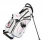Preview: Custom stitched golf bag / stand bag in white. 3 custom areas. Waterproof.