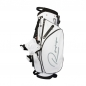 Preview: Bolsa de golf / bolsa golf trípode en negro o blanco. Monograma lateral. Bolsa de golf Impermeable