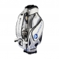 Preview: Golf bag / tour bag in black or white. Custom stitched with a company logo. 7 custom areas. Handmade production.