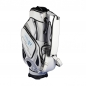Preview: Golf bag / tour bag in black or white. Custom stitched with a company logo. 4 custom areas.