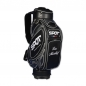 Preview: Golf bag / tour bag in black or white. Custom stitched with a company logo. 5 custom areas.