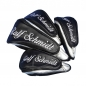 Mobile Preview: Customized head cover set 4 pieces. Same embroidery design for all 4 head covers