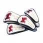 Preview: Customized head cover set 4 pieces. Same embroidery design for all 4 head covers