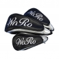 Preview: Head cover set 3 pieces custom stitched with a lettering or a monogram in a standard font