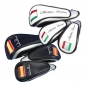 Preview: Head cover set 3 pieces. Custom stitched with a flag and the player's name