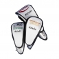 Preview: Head Cover Set 3tlg online designen. Unterschiedliches Stickdesign