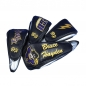 Preview: Customized head cover set 4 pieces. Different embroidery design for every head cover