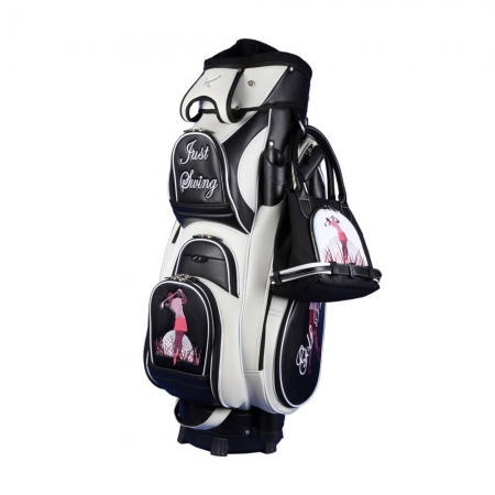 "Ladies Set! Golf bag / cart bag type MADEIRA & golf handbag MY WAY: Design ""GOLF PRINCESS"""