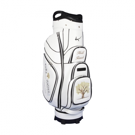 Golf bag / cart bag type GENEVA in white. Bauhaus style. Design 4 custom areas online