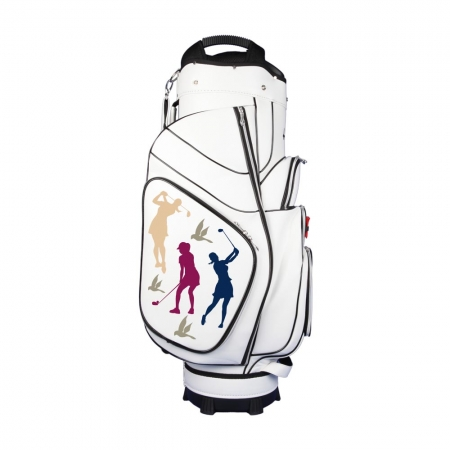 Bolsa de golf / bolsa golf de carro. Personalizado con un diseño de bordado exclusivo