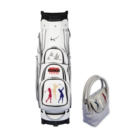 Jeu de dames! Sac de golf chariot GENEVE et sac à main ONLY YOU: Design « Birdie Queen »