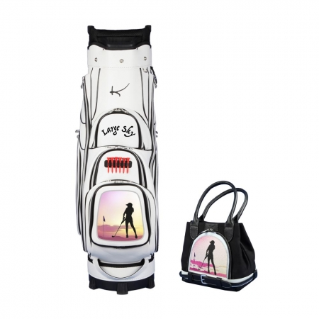 Jeu de dames! Sac de golf chariot GENEVE et sac à main MY WAY: Design  Grand Ciel