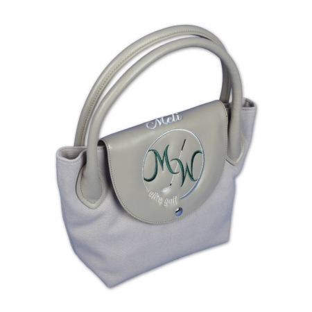 Design online custom hand bag ONLY YOU. Sand colored subtle elegance