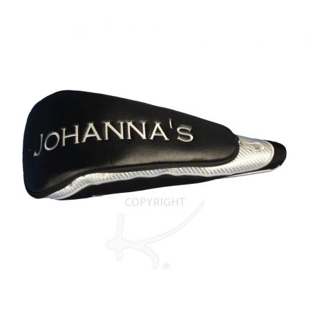Head cover for the driver. Custom stitched with a name or initials. For golf teams